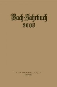 eva_cover_9783374026685_Bachjahrbuch 2008