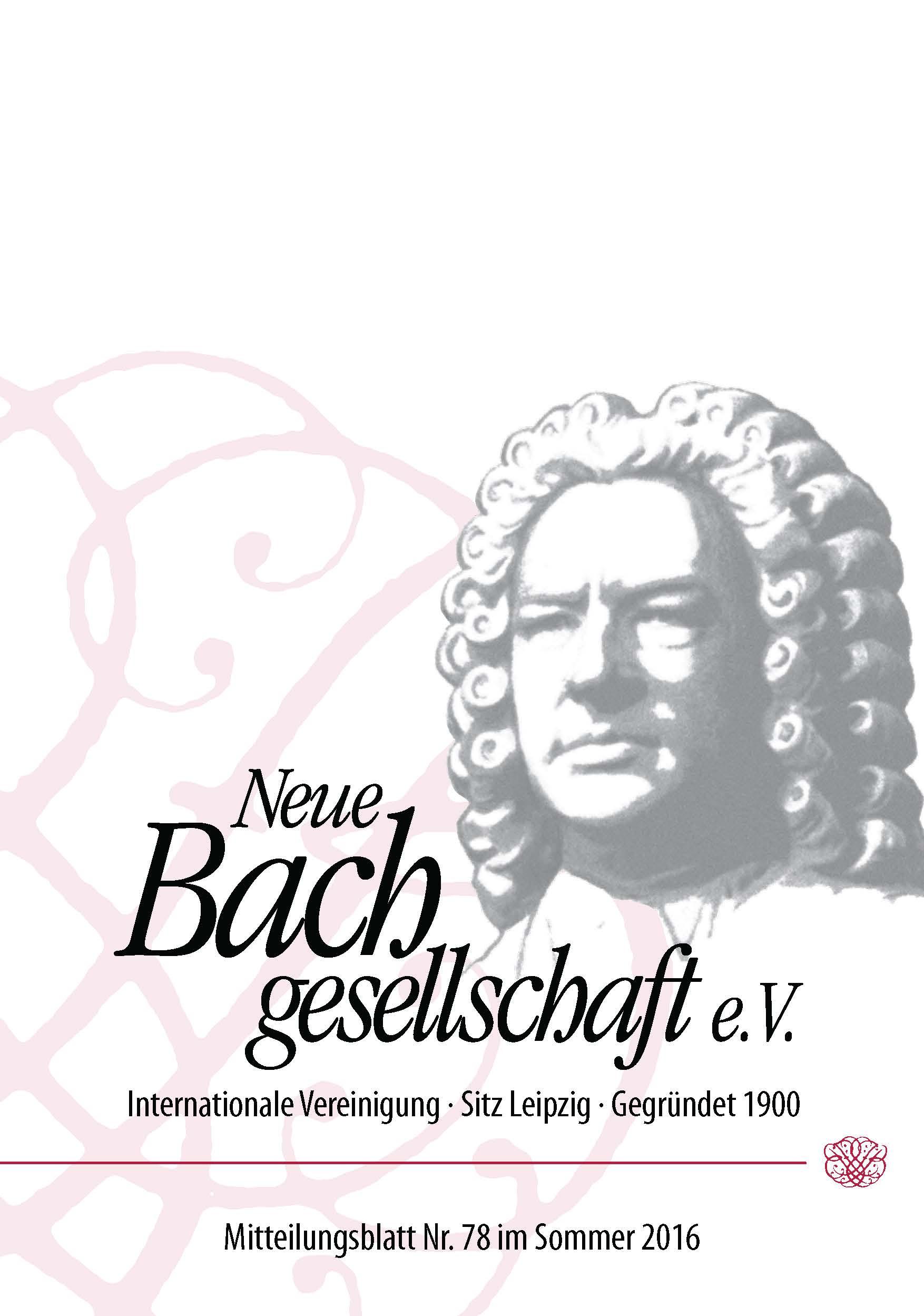 Deckblatt Aus Mitteilungsblatt 78 22 07 16 Neue Bachgesellschaft